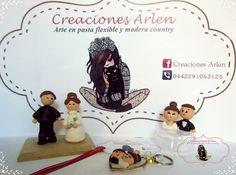 Detalles en pasta flexible para bodas. #CreacionesArlen