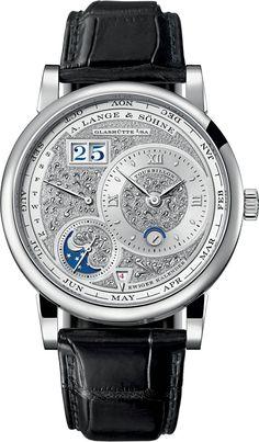 Часы A.Lange and Sohne Lange 1 Tourbillon Perpetual Calendar 720.048, limited edition - швейцарские часы белые, черные