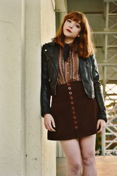 I've owned this faux leather jacket for about 7 years now. I used to wear it religiously, but when my style took a more soft turn, it ended up in the back of my closet (or packed in a box, rather)....