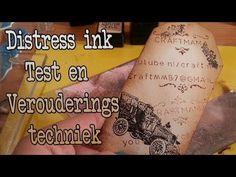 ▶ Distress inkt test En verouderingstechniek Met de Pads - YouTube