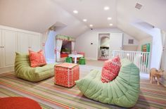 Fun attic playroom