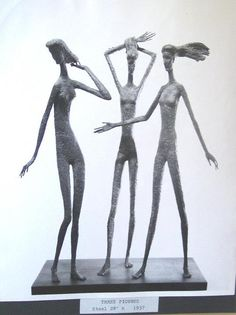 Three figures- Harry Stinson Bookends, Art, Craft Art, Kunst, Gcse Art, Art Education Resources