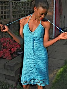 Handmade crochet dress.