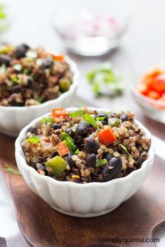 Gallo Pinto with Quinoa. Gallo Pinto with Quinoa Recipes Gallo pinto my friends is where it's at. Basically, it's just rice and black beans, but by . Gallo Pinto, Healthy Recepies, Latin Food, Clean Recipes, Vegetarian Recipes, Vegetarian Lunch, Vegan Meals, Stuffed Peppers, Vacation Pics