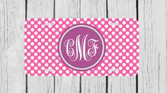 Personalized Monogrammed Polka Dots Purple Pink by TopCraftCase