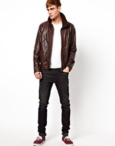 Diesel Leather Jacket Literal #mens #fashion #leather