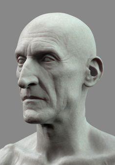 ArtStation - Old man sculpt WIP Mathieu Goulet Anatomy Study, Body Anatomy, Charles Dance, Sculpture Head, Sketchbook Inspiration, Dance Photography, Zbrush, Character Art, Sculpting