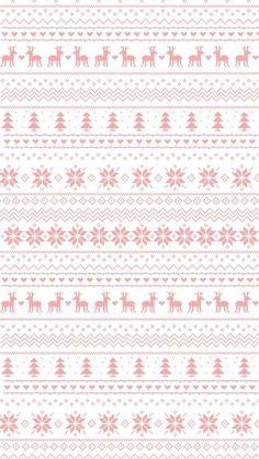 Pastel pink white snowflakes reindeer jumper sweater pattern iphone wallpaper background phone lock screen