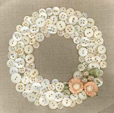 Pretty button wreath