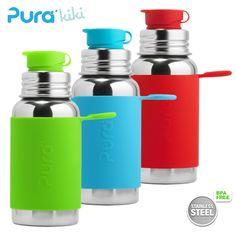 Pura Kiki Sportflasche - 500ml - BigMouth Aufsatz (inkl. Silikonüberzug)