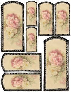 PRINTABLE  >>... Vanilla and Roses Tags (JPG) ... GREAT for Gift Tags  ....Sale Tags for Crafts.... etc