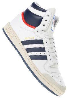 the best attitude 8c17e 26f42 Mooie Top Ten High (Wit) Sneakers van het merk Adidas voor Heren .  Uitgevoerd in Wit gemaakt van Leer leer textiel textiel.