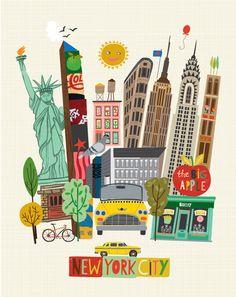 Carolyn gavin i love new york в 2019 г. new york drawing, ne New York Illustration, Travel Illustration, Illustration Fashion, New York Drawing, New York Theme, Plakat Design, City Art, Vintage Travel Posters, Illustrations