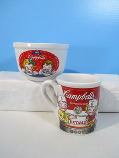 Pot Campbells collectable lot 2 SERVING bowls and tray