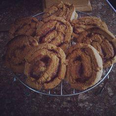 Peanut butter & raspberry cookies