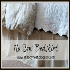 How to make an easy no-sew bed skirt by The Shabby Nest