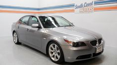 Silver 2007 BMW 5 Series V8 550 automatic, used car for sale in Houston, Texas - Kingwood TX 77044, Clear Lake TX 77062, Friendswood TX 77546, Pearland TX 77581, Sugar Land TX 77478 Visit http://www.SouthCoastAutos.com