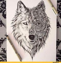 O Lobo: animal com valores fortes e bem representados, é em sua natureza forte, astuto, bravo e inteligente. Com a face personalizada e mais delicada, traz um ar feminino à tatuagem.