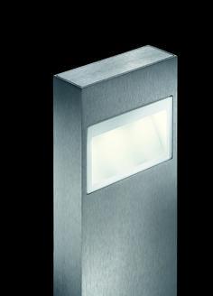 mox poller . outside luminaire . Außenleuchte . bollard . Pollerleuchte. aluminium brushed, anodized . Aluminium gebürstet, exloxiert . LED