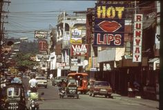 Olongapo, Phillipines in the late Spent a fair amount of time on this street in Regions Of The Philippines, Olongapo, Filipino Culture, Filipino Art, Uss America, Subic Bay, Navy Day, Royal Australian Navy, Navy Life