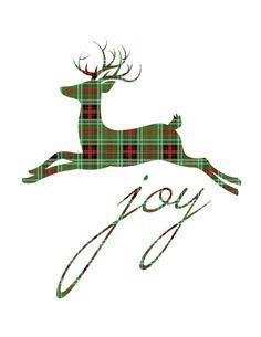green-red-black-reindeer-joy-christmas-printable - The Happy Housie Nordic Christmas, Christmas Bags, Christmas Candles, Plaid Christmas, Modern Christmas, Green Christmas, Christmas Pictures, Vintage Christmas, Christmas Holidays