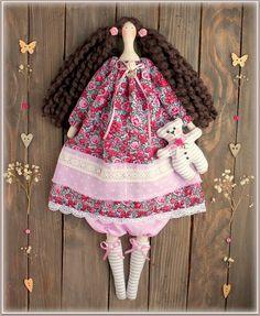 princess doll Tilda Doll fabric doll-Cloth doll rag