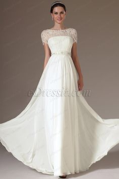 eDressit 2014 New Embroidered Lace Top Wedding Dress (01140807)