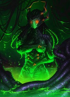 Caustic Queen by Kookrite on DeviantArt Fantasy Kunst, Dark Fantasy Art, Fantasy Girl, Arte Alien, Alien Art, Monster Concept Art, Monster Art, Fantasy Character Design, Character Art
