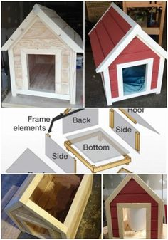 Simple Elegance - 15 Brilliant DIY Dog Houses With Free Plans For Your Furry Companion