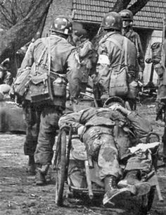 "224th Airborne Medical Company personnel at work during ""Operation Varsity"".  224th Airborne Medical Company 