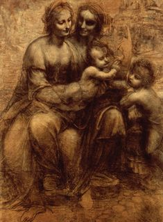 London's Top 10 : National Gallery - The Virgin and Child with St Anne and St John the Baptist This full-size drawing for a painting, known as a cartoon (from cartone, a large sheet of paper), is one of the masterpieces of the Renaissance, by Leonardo da Vinci (1452–1519).