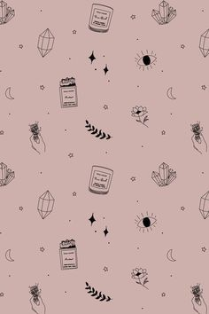 Branding and Graphic Design by IreneFlorentina Witchy Wallpaper, L Wallpaper, Pattern Wallpaper, Logo Design, Branding Design, Branding Ideas, Type Design, Packaging Ideas, Design Design