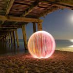 Giant Spheres Created with Light Painting