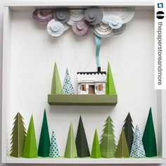 """Stay display inspired! #Repost @thepaperstoreandmore  Paper Art Alert…"