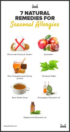 We can't cure your allergies but these natural remedies will help kick those pesky symptoms! For the full article, visit us here: http://paleo.co/7allergyremedies