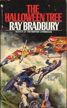 """The Halloween Tree by Ray Bradbury.  The audio book of this is FANTASTIC.  The BEST book to get """"in the mood of the season!"""""""