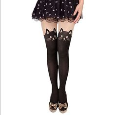 Sexy kitty tights NWOT, tried on once but never worn. Perfect condition. Feel free to ask questions or request more pics. ***NOT KATE SPADE JUST USED BRAND FOR EXPOSURE*** ✅ Bundle discounts  ✅ Offers Welcome No negotiating prices in comments  No Trades No PayPal kate spade Accessories