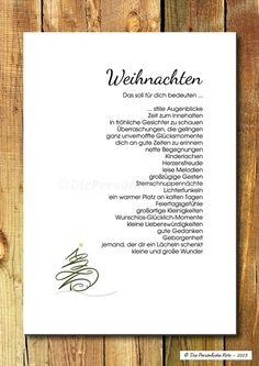 Druck/Wandbild/Print: Segenswunsch - Weihnachten von Die Persönliche Note auf DaWanda.com