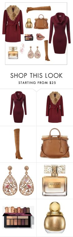 """""""12/19/2016: Burgundy & Tan Winter Wonderland!"""" by styling4life ❤ liked on Polyvore featuring J.TOMSON, New Look, ALDO, Maison Margiela, Luxiro, Givenchy and Christian Dior"""