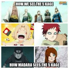 How Madara sees the five kafe