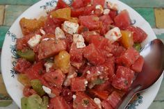 So refreshing! Buffalo tomato and feta salad