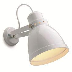 Wandlamp groot wit. DeJAren30FAbriek.nl Industrials & Design.