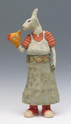 Sara Swink rabbit sculpture. #rabbit