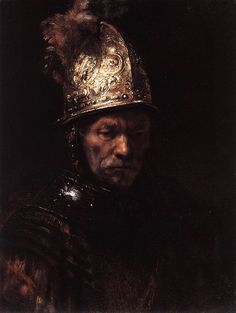 Man in a Golden Helmet c. 1650 Rembrandt (?)
