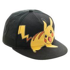 Pokemon Kids' Baseball Hat - Black/Yellow OSFM : Target