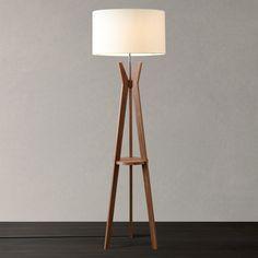 Buy i4DZINE Trafalgar Tripod Floor Lamp, Walnut Online at johnlewis.com