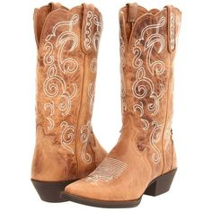 Justin L2703 ($155) ❤ liked on Polyvore featuring shoes, boots, mid-calf boots, dallas cowboys shoes, western boots shoes, western style boots, famous footwear and western cowgirl boots