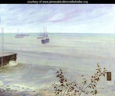 Symphony in Grey and Green- The Ocean  1866-72 - James Abbott McNeill Whistler - www.jamesabbottmcneillwhistler.org