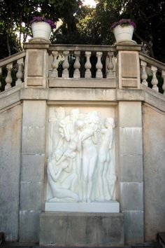Hearst Castle - Marble carving above Neptune Pool