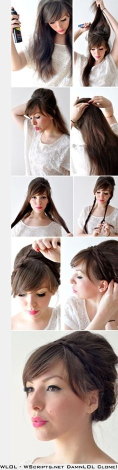 Easy Braided Updo possibley forJessica Costelloe?